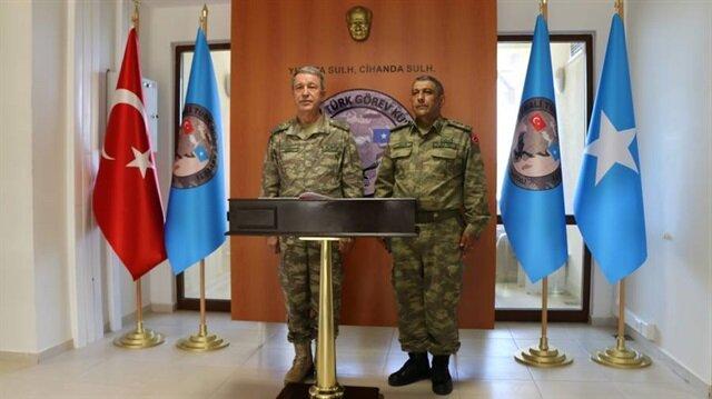 Orgeneral Akar, Somali için inşa edilen askeri okulu ziyaret etti