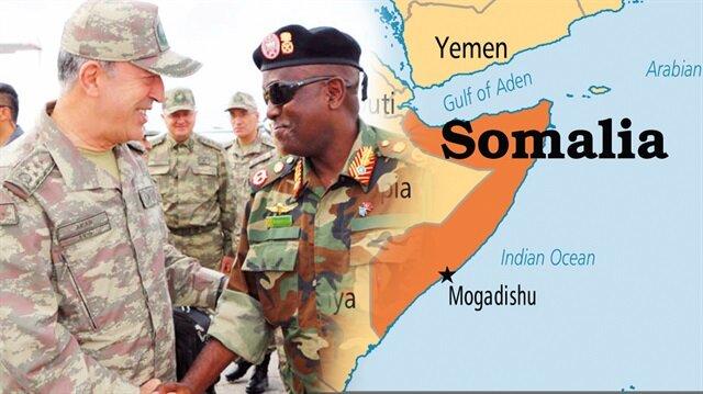 Somali'nin başkenti Mogadişu'da Türk askeri eğitim merkezinin açılışı yapıldı.