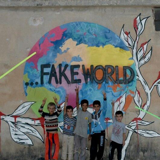 Suriye'de savaşa karşı sanat dediler