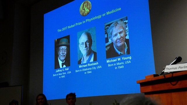 Three US-born scientists win 2017 Nobel Medicine Prize