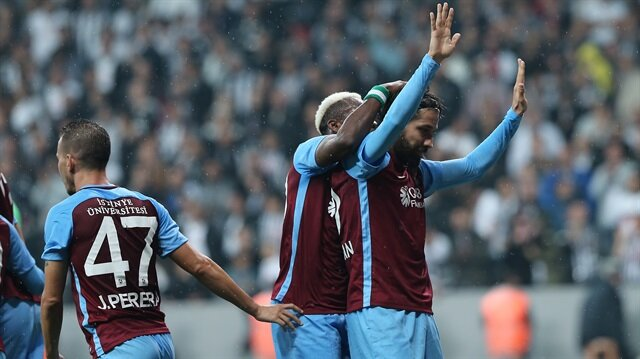 Olcay Şahan eski takımına karşı Vodafone Park'ta Trabzonspor'un beraberlik golünü kaydetti.