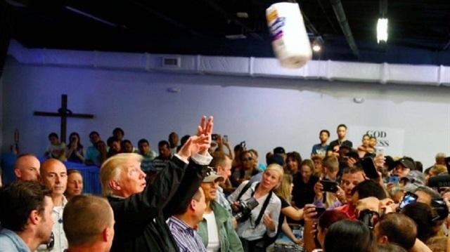 Trump Porto Rikoluları böyle aşağıladı