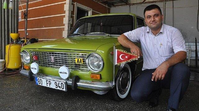 Otomobil tutkunu muhtarın 'Murat 124'ünü görenler şaşırıyor.