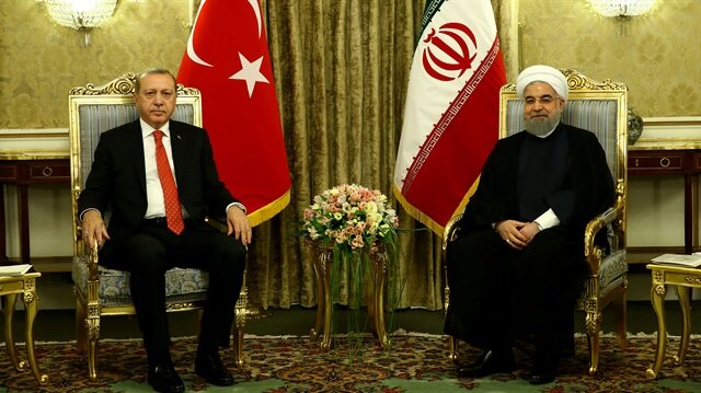 Erdoğan (L) and Rouhani (R)