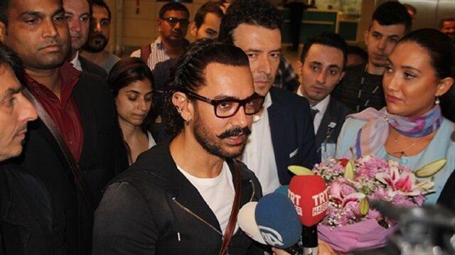 Indian actor Aamir Khan arrives in Istanbul