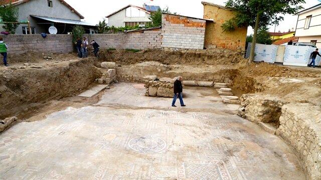 Roma dönemine ait spor tesisi 100 metrekarelik alanda yer alıyor.