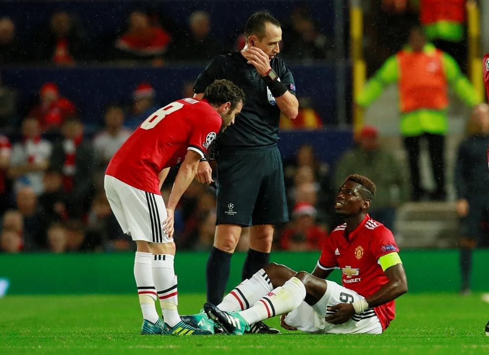 Pogba, Basel maçında sakatlanarak oyundan çıkmıştı. O maçtan bir kare...