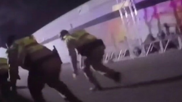 Las Vegas'taki saldırı polis kamerasında