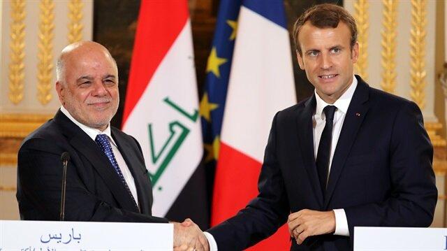 Irak başbakanı Haydar el-Abadi Paris'te Fransa Cumhurbaşkanı Macron ile görüştü.