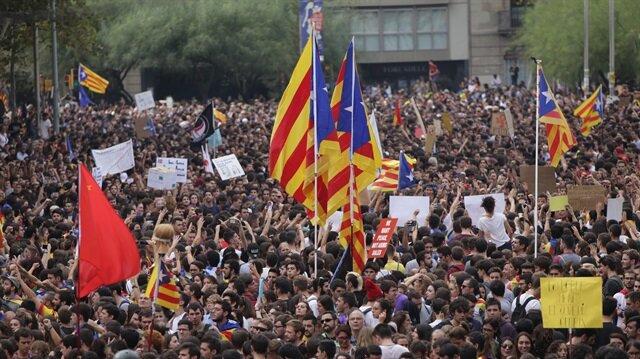 Katalonya'da bağımsızlık gerilimi sürüyor.