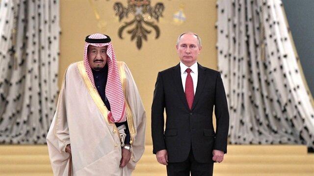 Suudi Arabistan Kralı Selman ve Rusya Devlet Başkanı Vladimir Putin