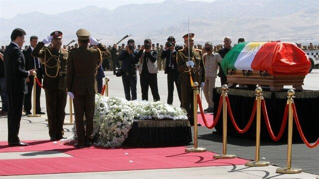 Talabani's coffin landed in Sulaimaniya