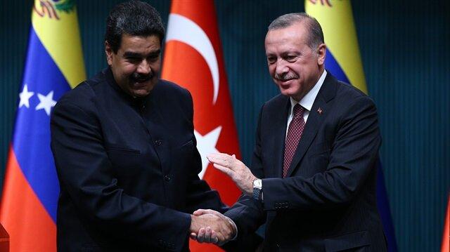 Cumhurbaşkanı Erdoğan ve Venezuela Devlet Başkanı Nicolas Maduro, görüşmenin ardından basın toplantısı düzenledi.