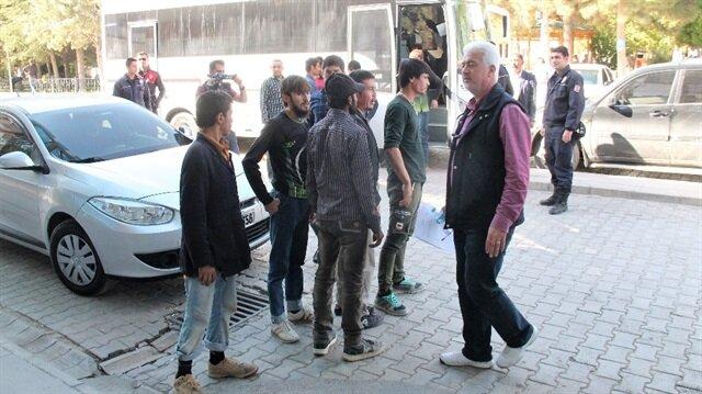 Elazığ'da, yabancı uyruklu 46 kişi gözaltına alındı.