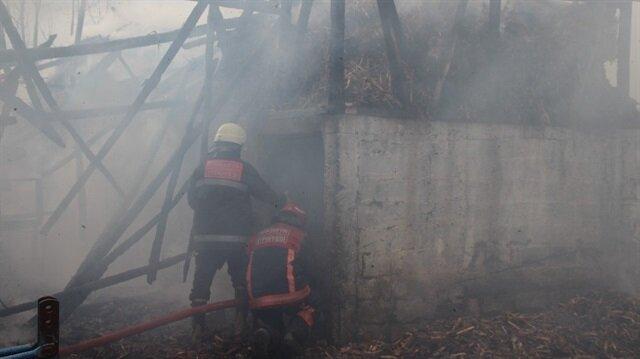 Sakarya'da samanlık yandı, 3 kişi dumandan etkilendi