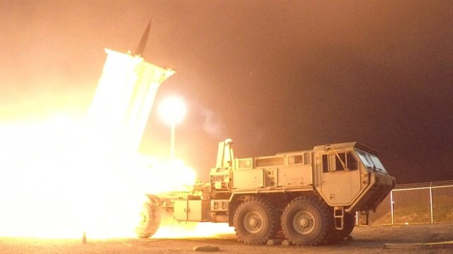 A Terminal High Altitude Area Defense (THAAD) interceptor is launched