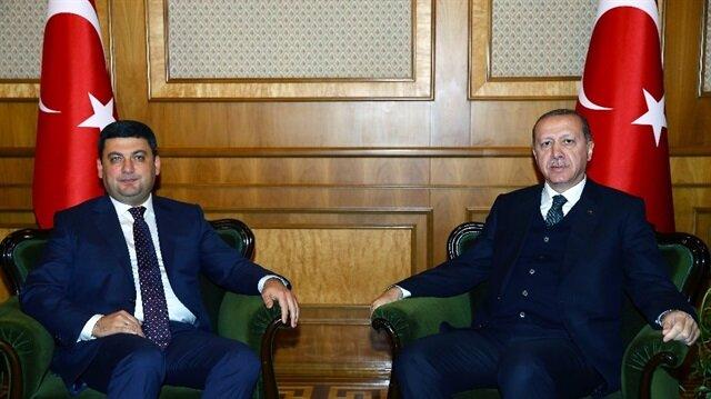 أردوغان يستقبل رئيس الوزراء الأوكراني