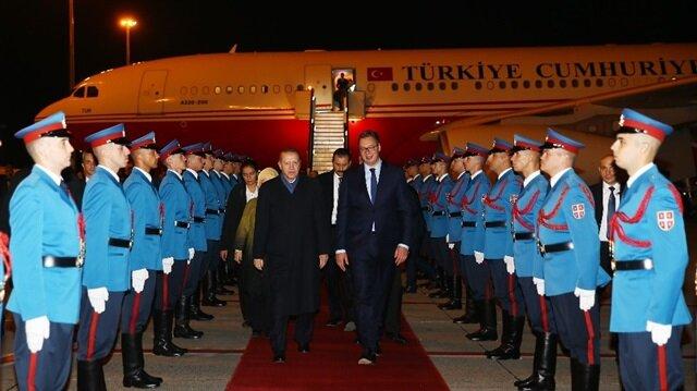 أردوغان يصل بلغراد في مستهل زيارة رسمية لصربيا