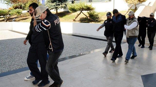 Adliyeye sevk edilen 4 PKK'lı terörist tutuklandı.