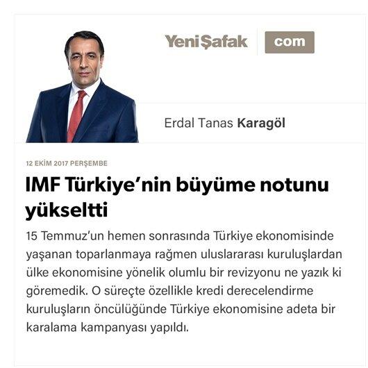 IMF Türkiye'nin büyüme notunu yükseltti