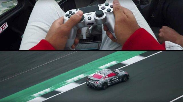 Playstation 4 kolu ile yarış arabası sürdü