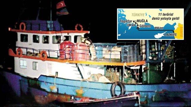 PKK'lı teröristler Muğla'ya ABD bayraklı tekneyle gelmiş