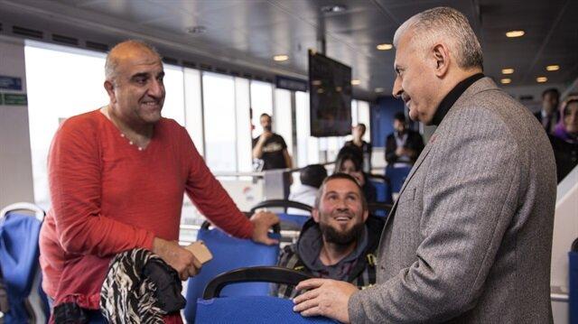 Başbakan Yıldırım İstanbul'a feribotla geldi