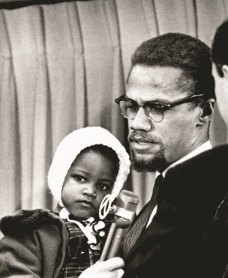 Malcolm X and his daughter Ilyasah.