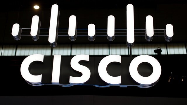 The logo of Cisco is seen at Mobile World Congress in Barcelona, Spain