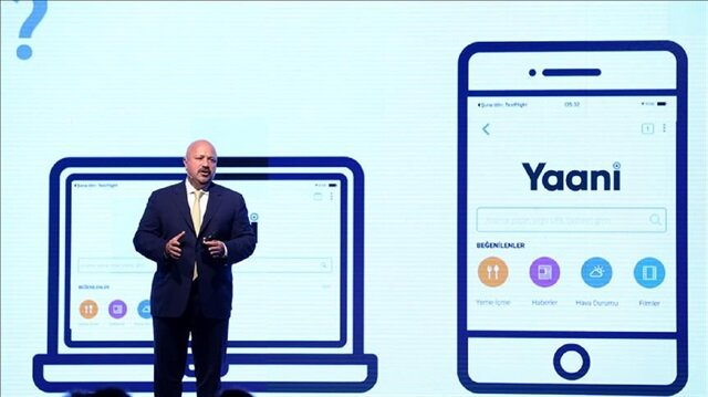 Turkcell's Chief Executive Officer Kaan Terzioglu speaks during a press conference in Istanbul, Turkey on October 25, 2017. Turkcell has announced that it has collaborated with international Internet browser to create a search engine towards the youth.