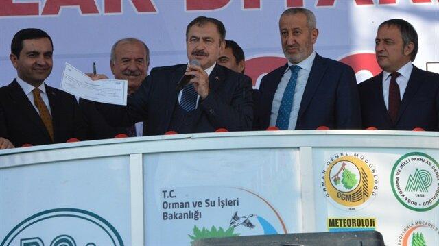 Orman ve Su İşleri Bakanı Eroğlu, Kırşehir'de açıklamalar yaptı.