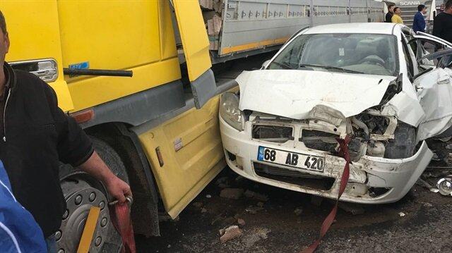 Aksaray-Konya yolunda zincirleme trafik kazası meydana geldi.