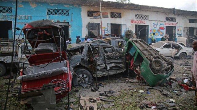Somali'nin başkenti Mogadişu'da gerçekleştirilen bombalı saldırı