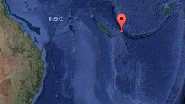 Pasifik Okyanusu'nun güneydoğusunda 5.9 büyüklüğünde deprem meydana geldi.