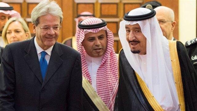 Suudi Arabistan Kralı Selman, İtalya Başbakanı Gentiloni'yi Riyad'da kabul etti