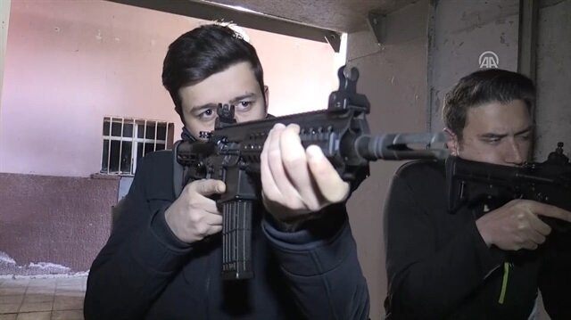 Turkish-made MPT-76 rifle in use