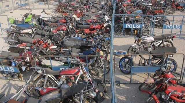 Adana'da 'bombalı motosiklet' alarmı: 500 motosiklet toplandı