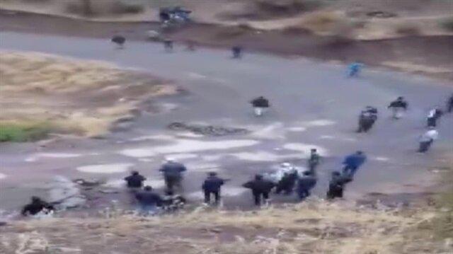 Şemdinli'de çatışma sonrası yaşananlar kamerada
