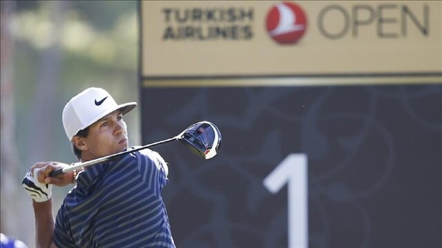 Thorbjorn Olesen of Denmark competes during the Turkish Airlines Open 2017 Golf Tournament in Antalya, Turkey