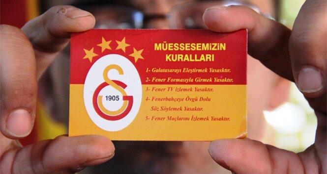 Ezeli rekabetin kartvizite taşındığı kahvehanede, 5 yasak var 4'ü Fenerbahçe'yle ilgili.