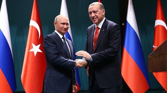 Rusya Devlet Başkanı Putin ve Cumhurbaşkanı Recep Tayyip Erdoğan