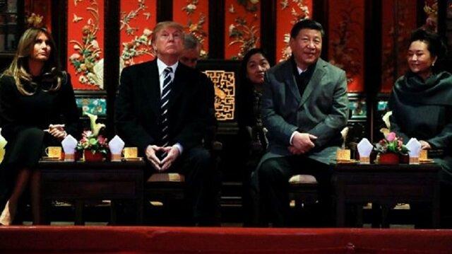 ABD Başkanı Trump Çin'de onuruna verilen yemeğe katıldı