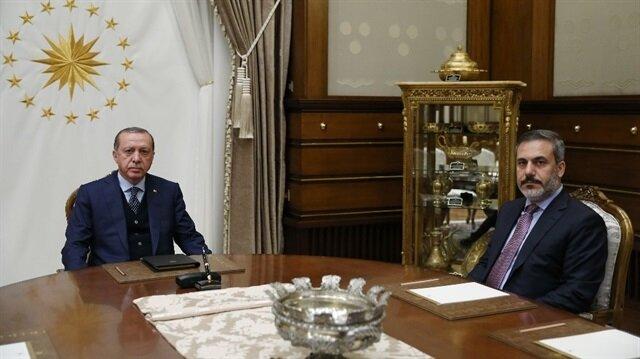 Cumhurbaşkanı Recep Tayyip Erdoğan ve MİT Müsteşarı Hakan Fidan