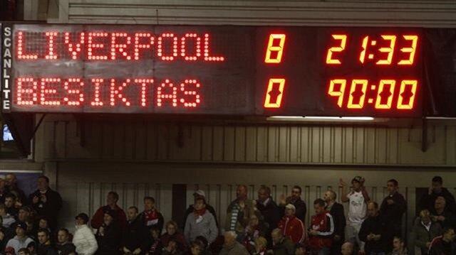Beşiktaş'ın Liverpool'a 8-0 yenildiği maç, Şampiyonlar Ligi tarihinin en farklı yenilgisi olarak kayıtlara geçmişti.