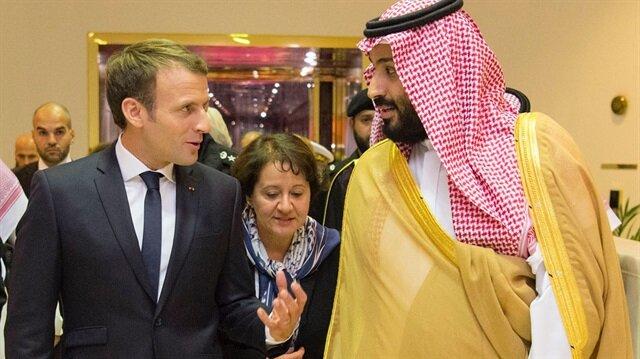 Macron'u havaalanında Suudi Arabistan Veliaht Prensi Muhammed bin Selman  karşıladı