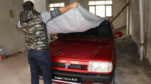 50 Bin TL'lik 2002 model Tofaş marka otomobil Trabzon'a geldi