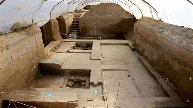 Çin'de bulunan 2 bin yıllık banyonun zeminleri ve duvarları tuğladan inşa edilmiş.