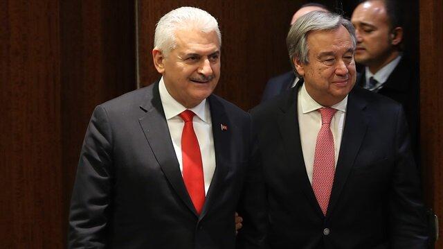 Başbakan Yıldırım BM Genel Sekreteri ile görüştü