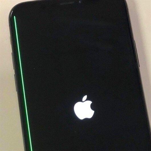 iPhone X ekranında yeşil çizgi problemi
