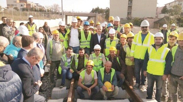 Ahmet Arslan, Gebze-Halkalı arası Banliyö Hatları'nda yapılan saha çalışmalarını inceledi.